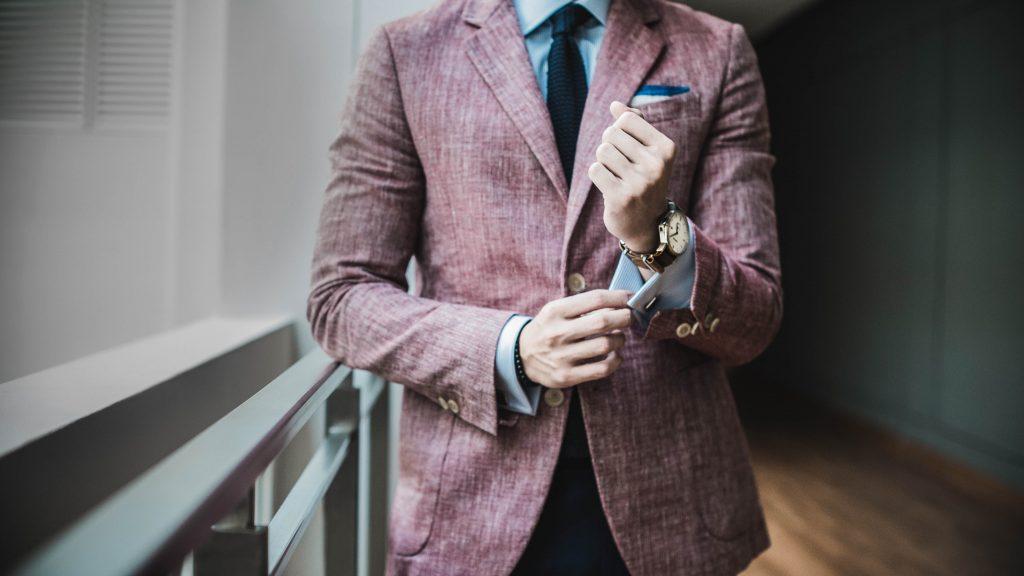 suit, man, cuff links, watch