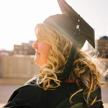 grad-school, woman in grad hat