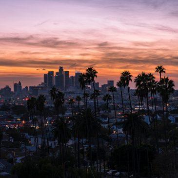 LA, los angeles, aerial view, LA skyline